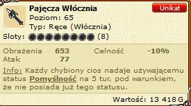 Nazwa:  Screenshot_2020-09-25 Pajęcza Włócznia - przedmiot w MFO3.png Wyświetleń: 323 Rozmiar:  28.7 KB